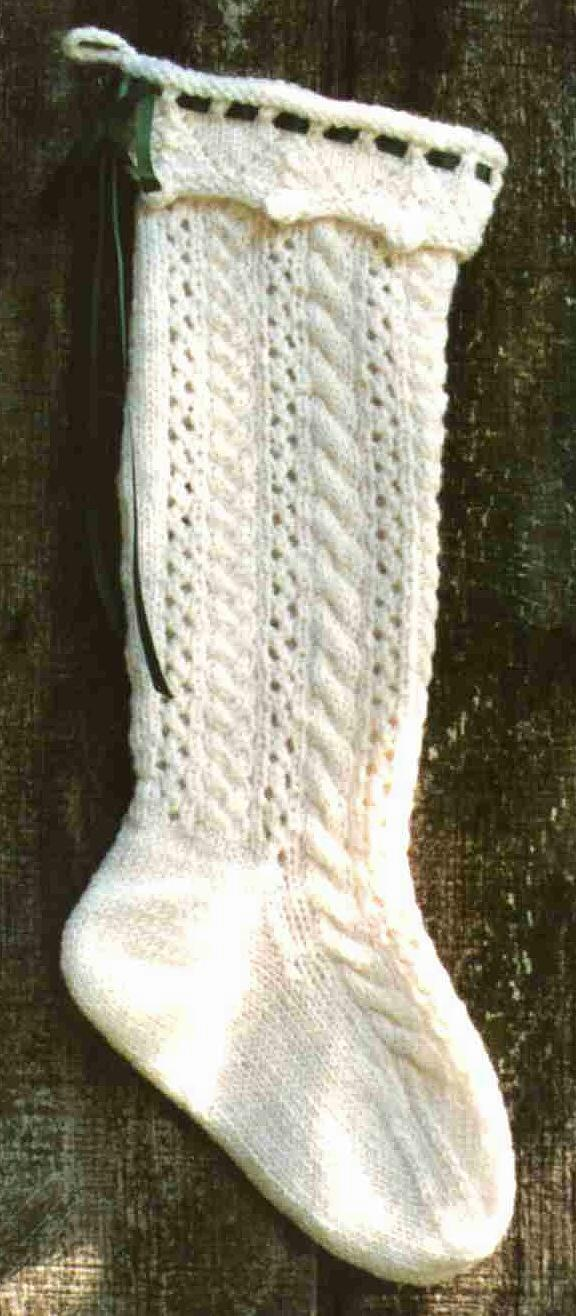 Cable and Lace Stocking
