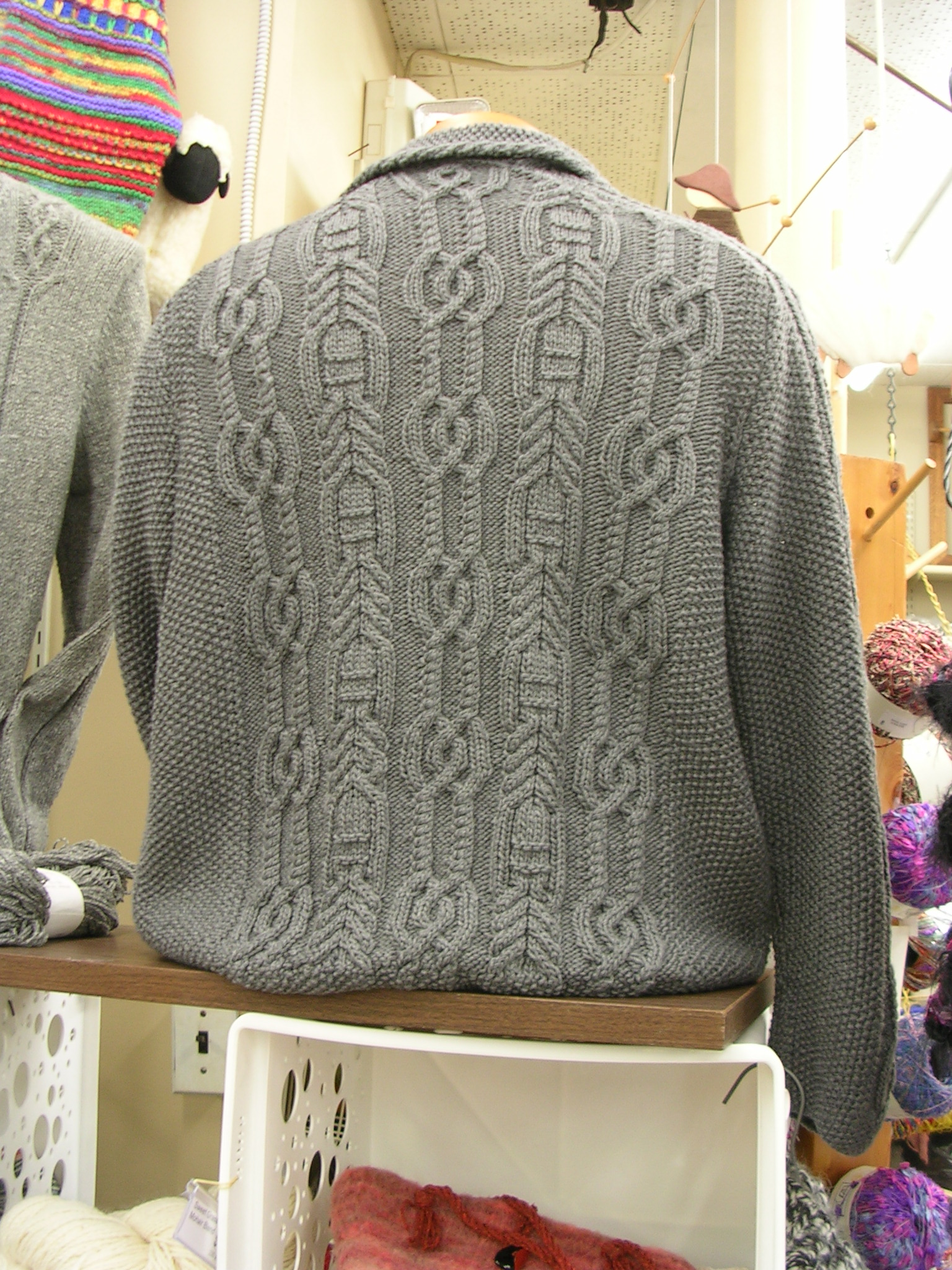 Back view of winning sweater