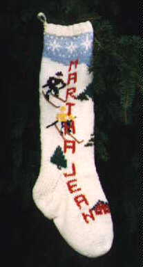 Downhill Skiers Stocking