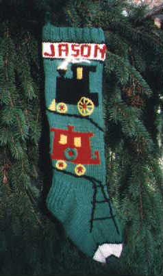 Christimas Train Stocking
